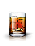 Alkoholisches Getränk mit Eis Stockfoto