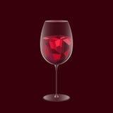 alkoholisches Getränk, Stab, Niedriges Poly- und Transparenzvektordesign alcohol stock abbildung