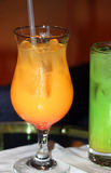 Alkoholisches Orangensaftgetränk Stockbild