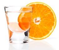 alkoholiserad drinkorange Arkivfoto