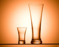 alkoholiserad dryckpyramid Royaltyfri Fotografi