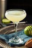 Alkoholiserad limefrukt och Gin Gimlet royaltyfria foton