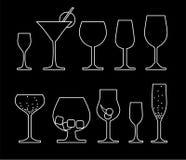 alkoholiserad samlingsdrink vektor illustrationer