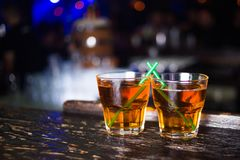 Alkoholiserade starka drinkar Royaltyfri Foto