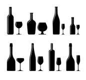 alkoholiseradt flaskexponeringsglas stock illustrationer
