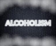 Alkoholismneonbokstäver SAD mood också vektor för coreldrawillustration vektor illustrationer