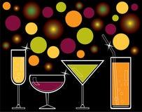 alkoholisten dricker fruktsaft Arkivbild