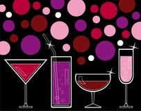 alkoholisten dricker fruktsaft Royaltyfri Fotografi