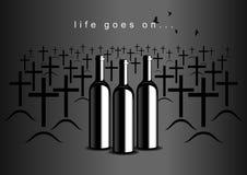 alkoholizm ilustracja wektor