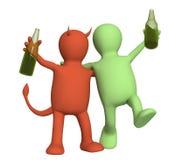 alkoholizm krzywda Obrazy Royalty Free