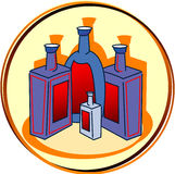 alkoholpictogram stock illustrationer