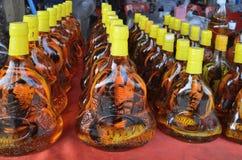 Alkoholtinktur på ormar och skorpioner Royaltyfri Fotografi