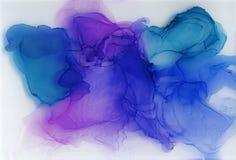 Alkoholu atrament, akrylowy, akwareli kolorowy abstrakcjonistyczny t?o ilustracji