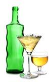 alkoholu butelki szkieł lód obraz royalty free