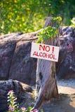 alkoholu nie Zdjęcie Stock