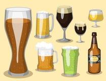 Alkoholu orzeźwienia piwny wektorowy ilustracyjny browar i przyjęcie napoju ciemnego kubka mroźny rzemiosło pijemy ilustracja wektor