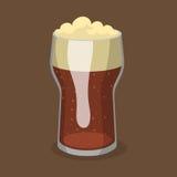 Alkoholu orzeźwienia piwny wektorowy ilustracyjny browar i przyjęcie napoju ciemnego kubka mroźny rzemiosło pijemy royalty ilustracja