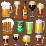 Alkoholu orzeźwienia piwny wektorowy ilustracyjny browar i przyjęcie napoju ciemnego kubka mroźny rzemiosło pijemy ilustracji