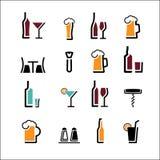 Alkoholuppsättning royaltyfri illustrationer