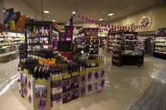 Alkoholverkaufs-Safeweise Stockfotos