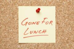 Allé pour la note collante de déjeuner images libres de droits