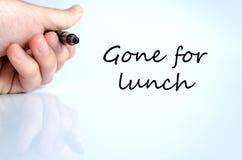 Allé pour le concept de déjeuner images libres de droits