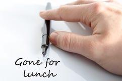 Allé pour le concept de déjeuner photographie stock