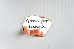Allé pour le concept de déjeuner photographie stock libre de droits