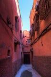 Allée dans la vieille ville de Marrakech Photographie stock libre de droits
