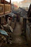 Allée dans la ville antique chinoise Photos stock