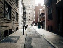 Allée dans la ville centrale, Philadelphie Images libres de droits