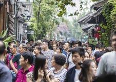 Allée de Chengdu Kuanzhai Image libre de droits