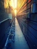 Allée de coucher du soleil Photo libre de droits