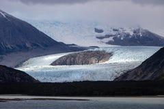 Allée de glacier - la Manche de briquet - Patagonia Argentine d'Ushuaia photos libres de droits