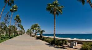 Allée de promenade de Limassol, Molos, Chypre Photos stock