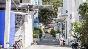 Allée de ville de plage en Thaïlande Image libre de droits