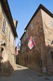 Allée. Della Pieve de Citta. l'Ombrie. Images libres de droits