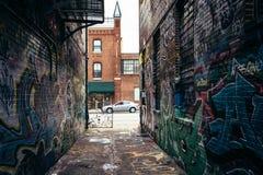 Allée et Howard Street de graffiti à Baltimore, le Maryland photo stock