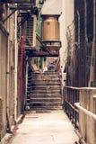Allée latérale malpropre à Hong Kong Images stock