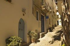 Allée méditerranéenne, Costa Brava, Espagne Photos libres de droits