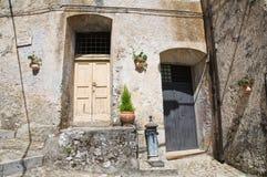 allée Morano Calabro La Calabre l'Italie Photographie stock