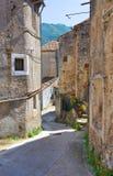 allée Morano Calabro La Calabre l'Italie photographie stock libre de droits