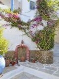 Allée pittoresque en île méditerranéenne Photo stock