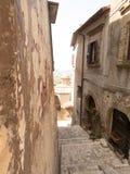 Allées antiques à Calvi Photo stock