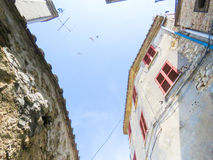Allées antiques à Calvi Image stock