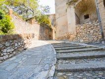 Allées antiques à Calvi Photo libre de droits