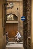 Allées antiques de Florence Photographie stock