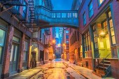 Allées de New York City image libre de droits