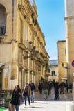 allées du centre historique de Lecce photographie stock