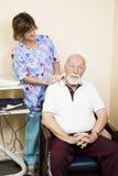 Allégement de douleur cervicale d'ultrason Images stock